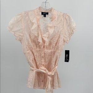 iZBYER women's Sheer Blouse Size M